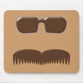 Moustache eyeglasses moustache glasses mousepad