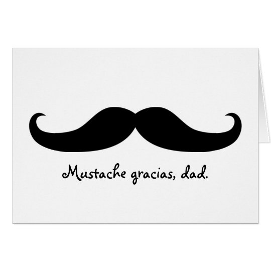 Moustache Father's Day or Birthday Card