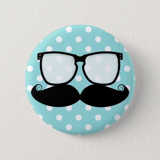 Moustache Flair Button