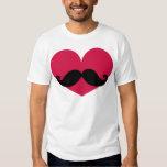 Moustache Heart Shirts