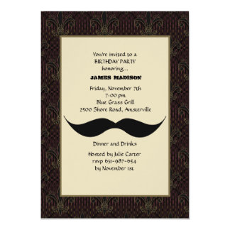 Moustache Invitation