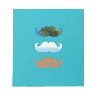 Moustache.. Life's A Beach! Notepads