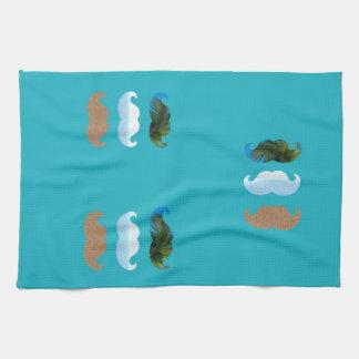 Moustache.. Life's A Beach! Tea Towel