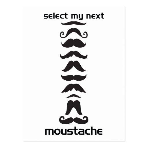 Moustache Line Up Post Card