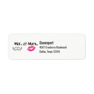Moustache & Lips Mr. & Mrs