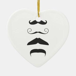 Moustache list - Choose your weapon!! Ceramic Heart Decoration