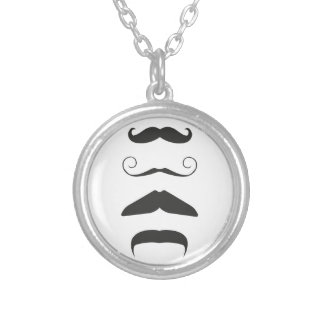 Moustache list - Choose your weapon!! Silver Plated Necklace