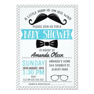 Moustache Little Gentleman Baby Shower Invitation