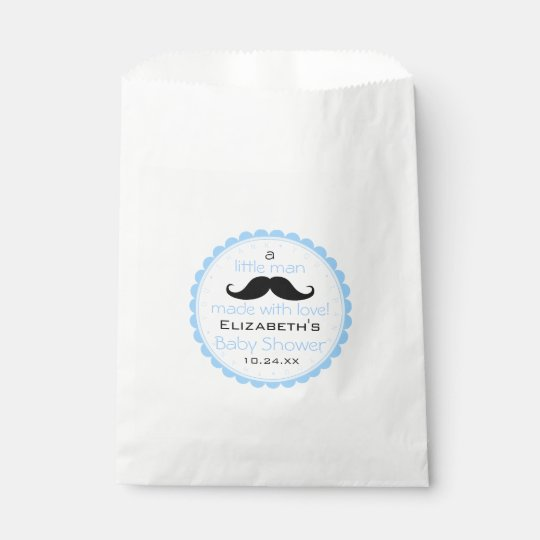 Moustache Little Man Baby Shower Guest Favour Bags