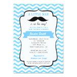 Moustache Little Man Baby Shower Invitation