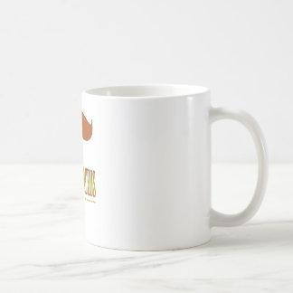 moustache.macho. basic white mug