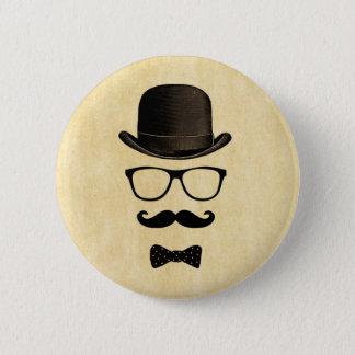 Moustache Man 6 Cm Round Badge
