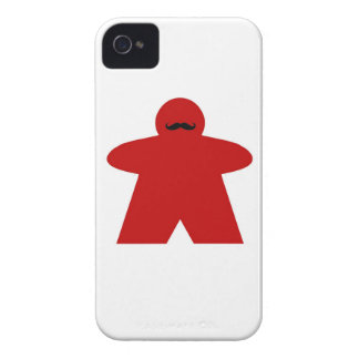 Moustache Meeple iphone case Case-Mate iPhone 4 Case