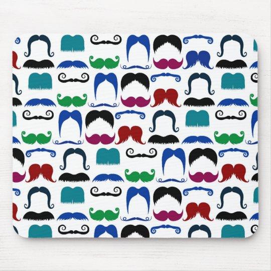 Moustache Moustache Retro Pattern Mouse Mat