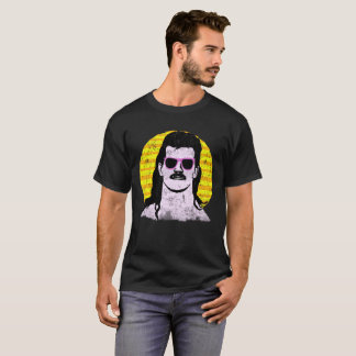 Moustache, mullet and pink sunglasses tee