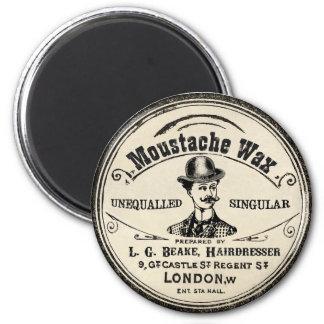 Moustache Mustach Wax Vintage Magnet