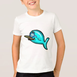 Moustache Narwhal Shirt