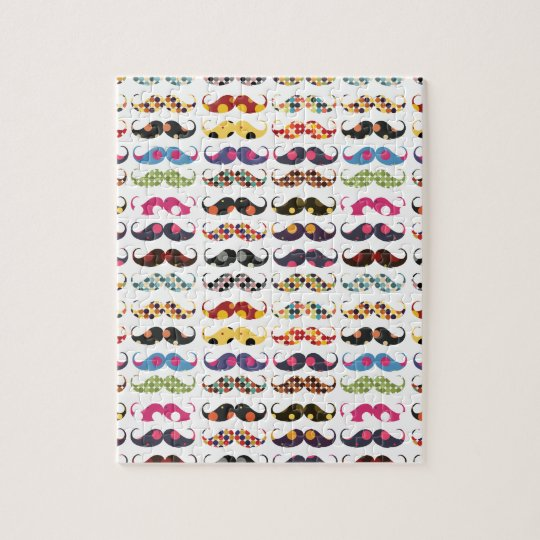 Moustache pattern is cute jigsaw puzzle
