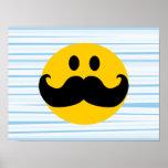 Moustache Smiley Poster