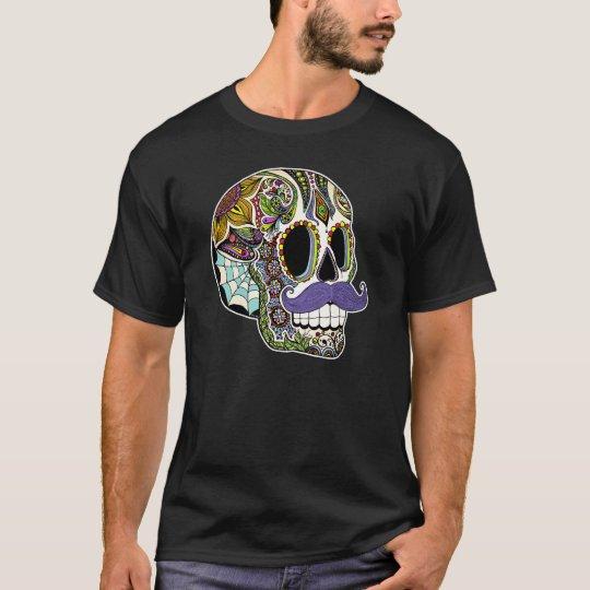 Moustache Sugar Skull Men's Shirt