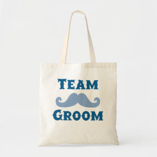Moustache Team Groom Tote Bags