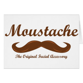 Moustache - The Original Facial Accessory Card