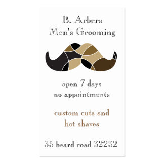 Moustache themed double sided business card