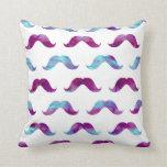 Moustache Tie Dye Watercolor Moustaches Rainbow Cushions