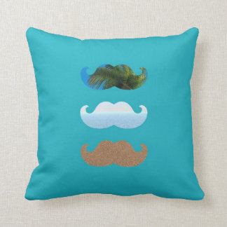 Moustache .. To The Beach Cushion