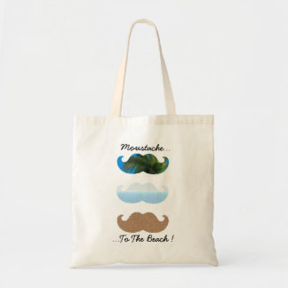 Moustache.. To The Beach! Tote Bags