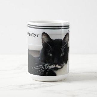 Moustache Tuxedo Cat ( Seriously) Mug