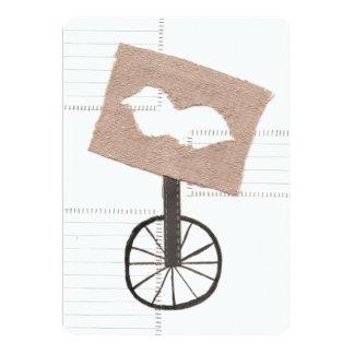Moustache Unicycle Invitation
