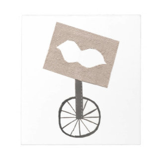 Moustache Unicycle Notepad