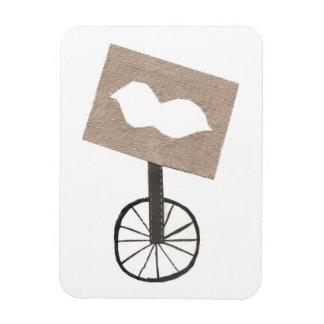 Moustache Unicycle Photo Magnet