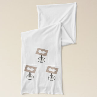 Moustache Unicycle Scarf