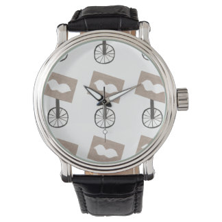 Moustache Unicycle Wrist Watch