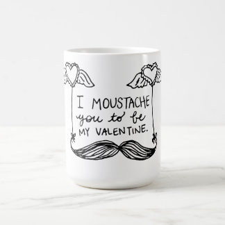Moustache Valentine Coffee Mug