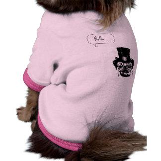 Moustached pug ringer dog shirt