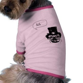 Moustached pug dog clothing