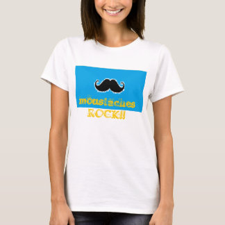 Moustaches rock T-shirt Ladies baby doll