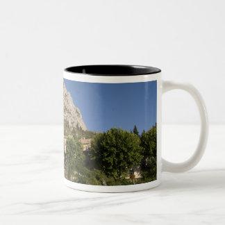 Moustiers-Sainte-Marie, Provence, France. Two-Tone Coffee Mug