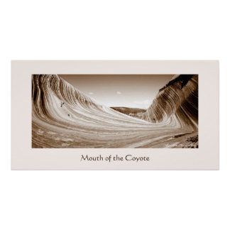Mouth of the Coyote (Sepia) Poster