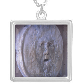 Mouth of Truth Silver Plated Necklace