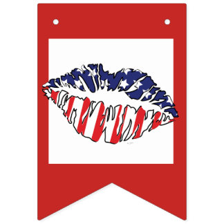 MOUTH USA  Party Bunting Banner