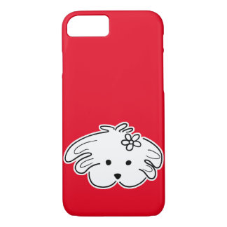 "Movable cover red small dog, girl, ""the world of"