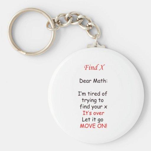 Move on Math Keychain