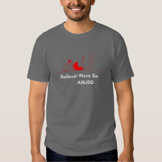 Move On Red, Defend~Move On        AIKIDO Tshirts