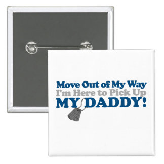 Move out of the way! (boy) 15 cm square badge