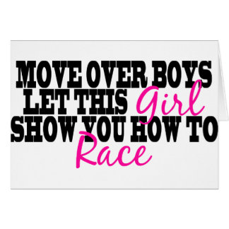 Move Over Boys Card