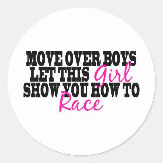 Move Over Boys..... Round Sticker